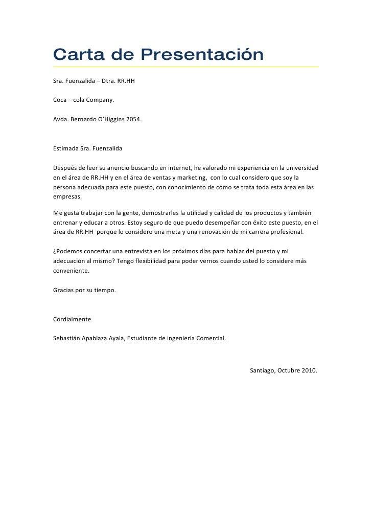 Carta Presentacion Curriculum – I Started