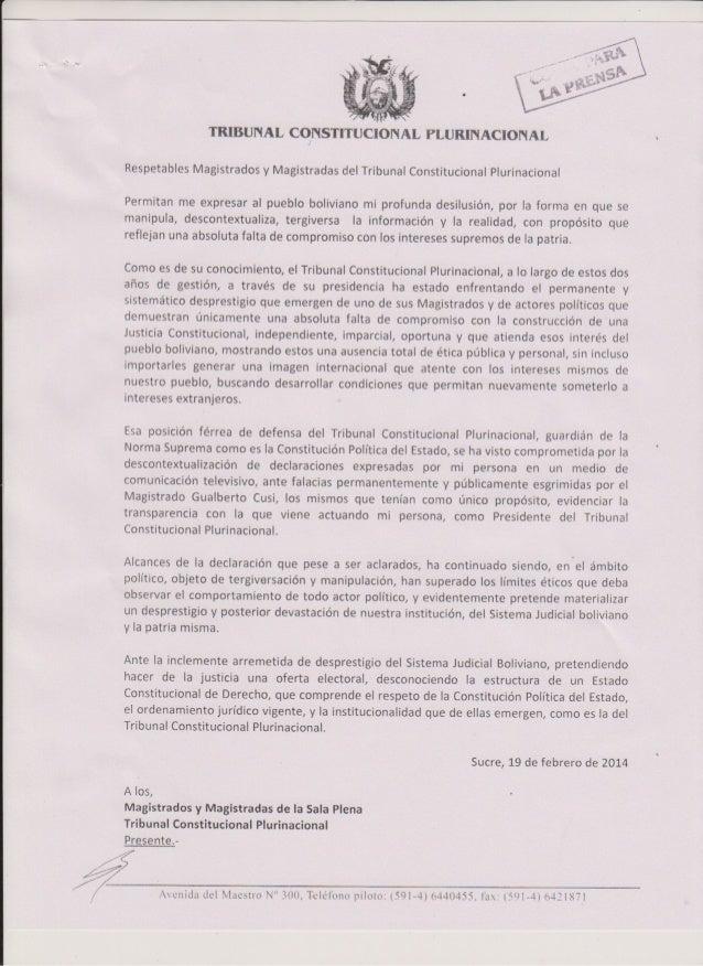 w  TBIBUNAL CONSTITUCIONAL PLUBINACIONAL RespFiables Magrstrados y Magistradas del I I ibun¿l Con5t;tuciondl plunnac¡on¿l ...