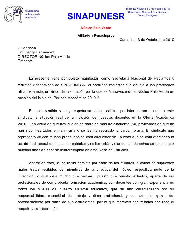 Sindicato Nacional de Profesores de la     Sindicalismo                                                   Universidad Naci...