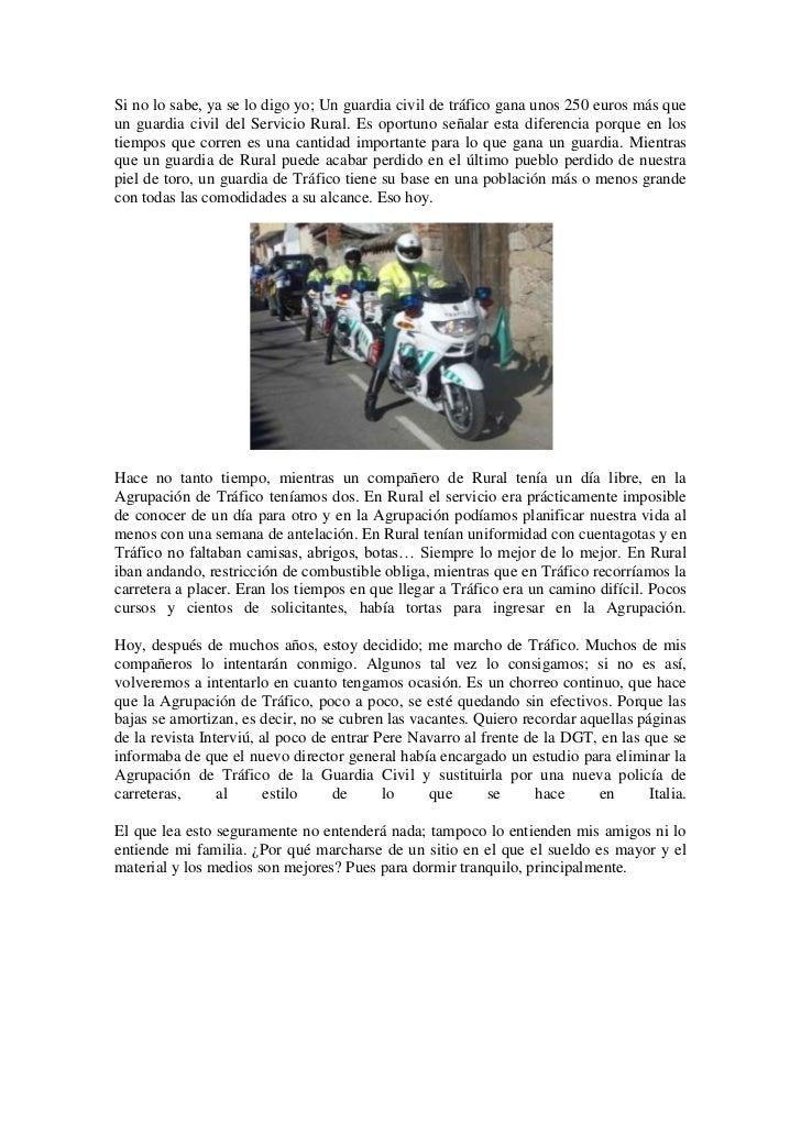 Carta de un guardia civil urgente!!