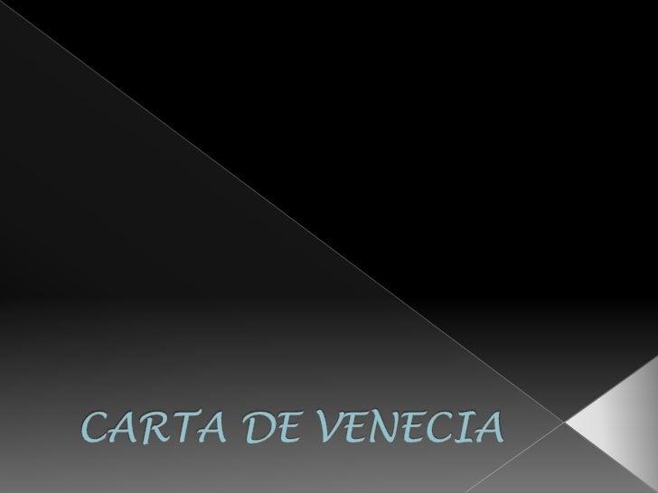 Carta de venezia