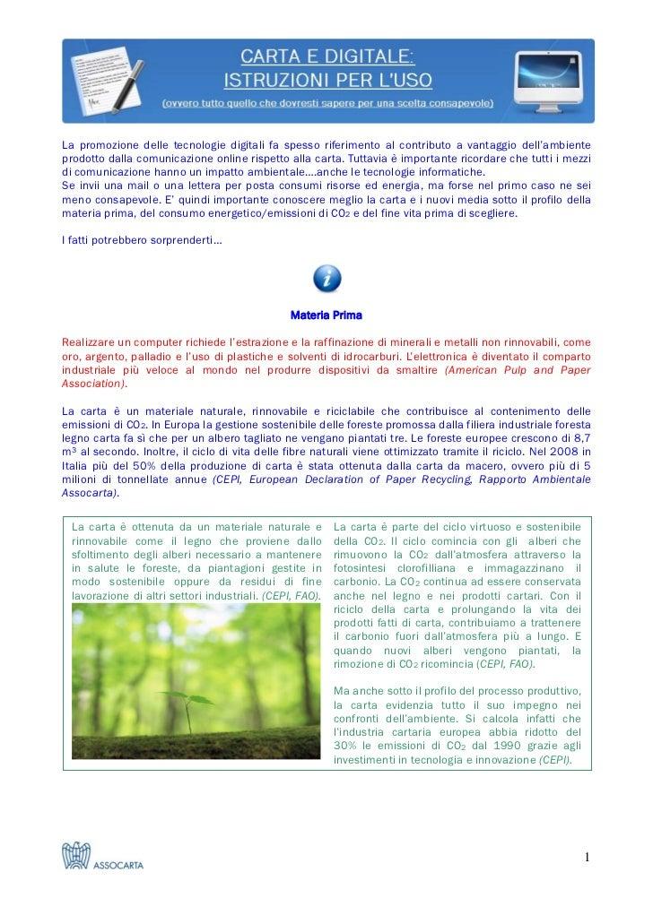 Carta e digitale: istruzioni per l'uso