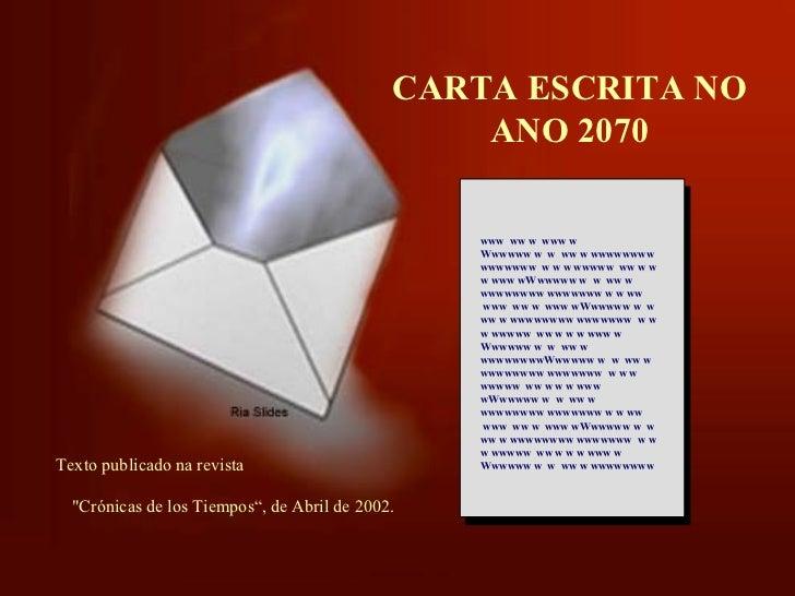 Carta escrita no ano de 2070