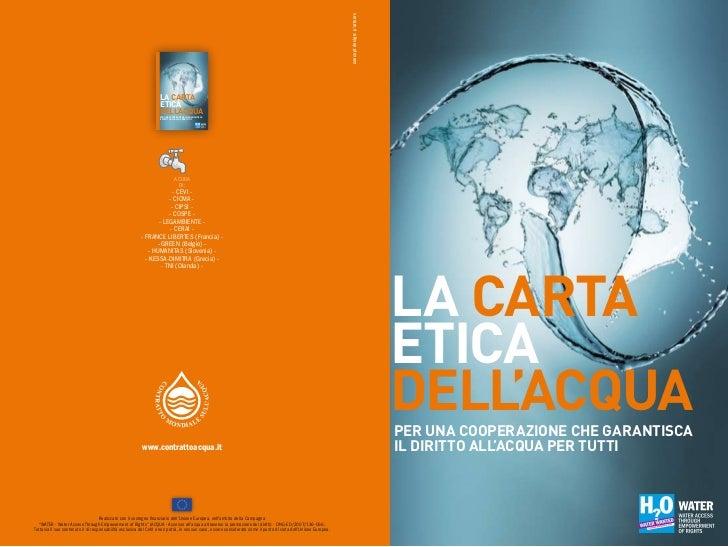 Carta etica dell'acqua