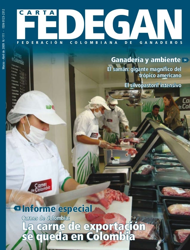 Carnes de Colombia. Carta fedegán 111
