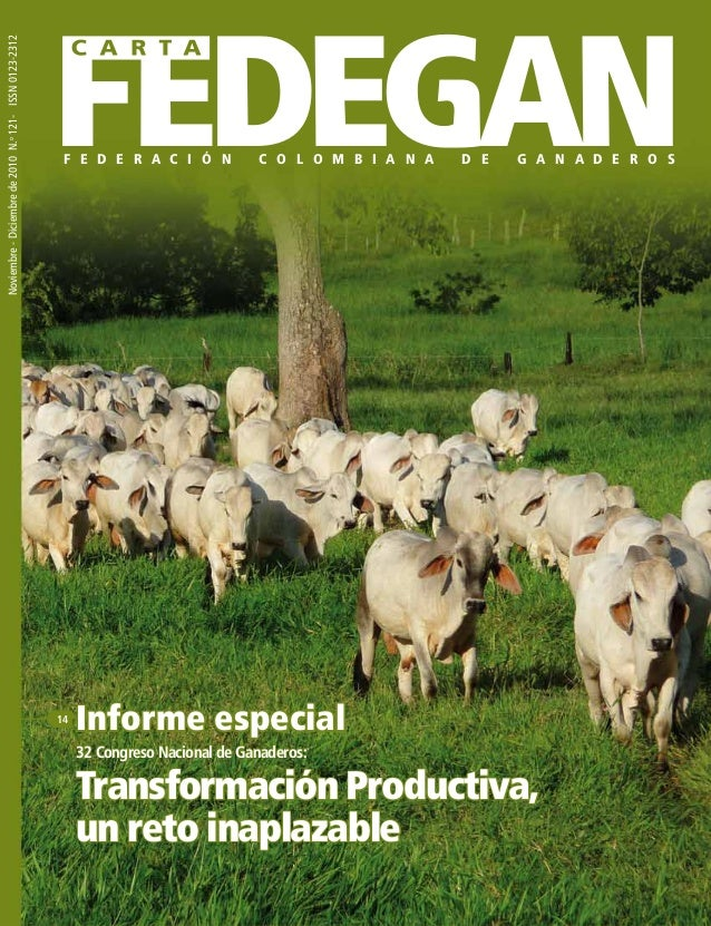 Transformación productiva. Carta fedegan 121