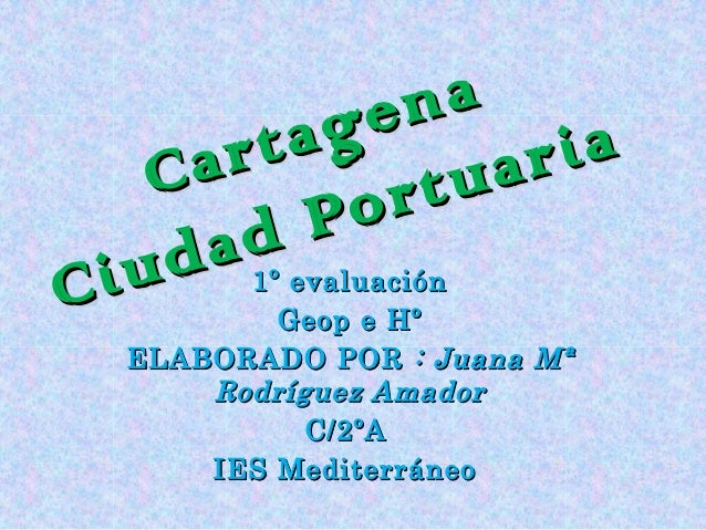 Cartagena Ciudad Portuaria