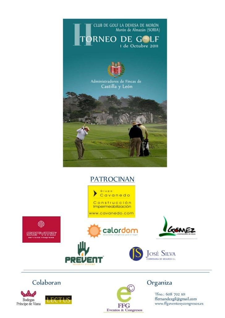 Torneo de golf Administradores de fincas de Castilla y León