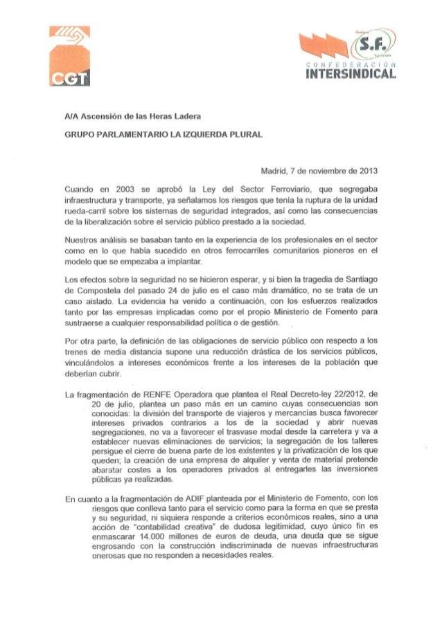 Carta grupos politicos