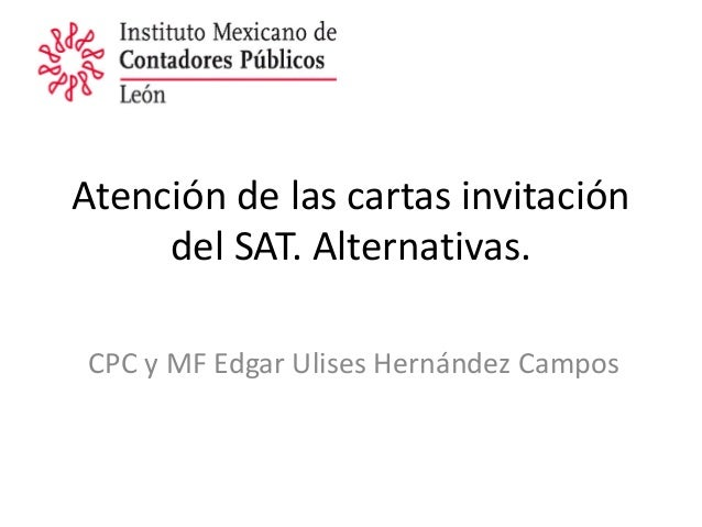 Carta invitación sat