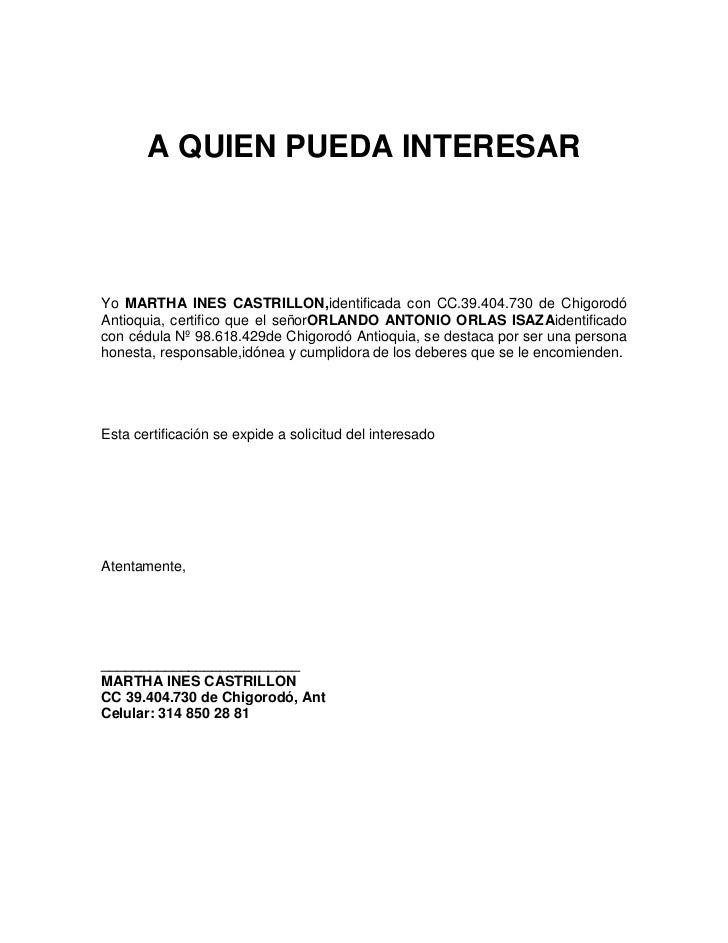 Carta laboral especial for Modelo de contrato de trabajo de empleada domestica