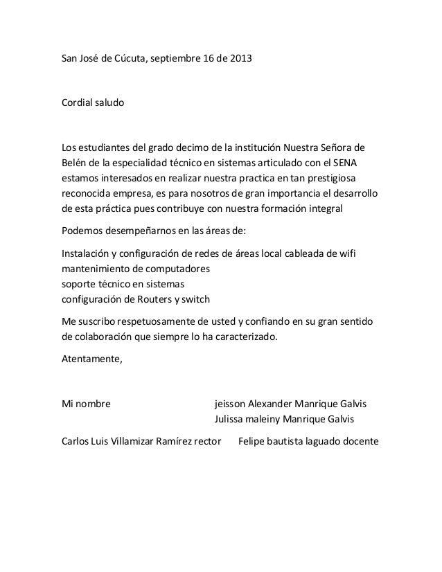 Carta de apresenta