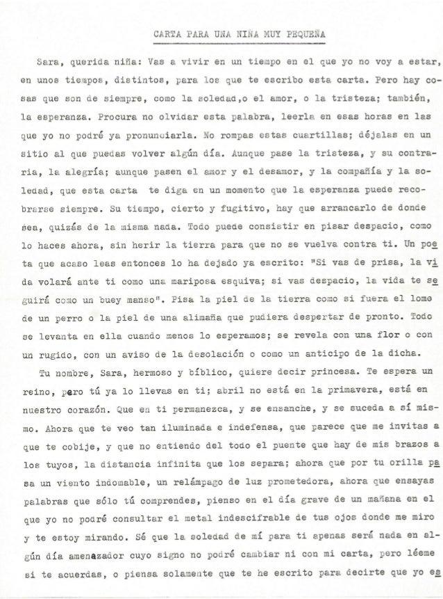 'Carta para una niña muy pequeña' de José García Nieto