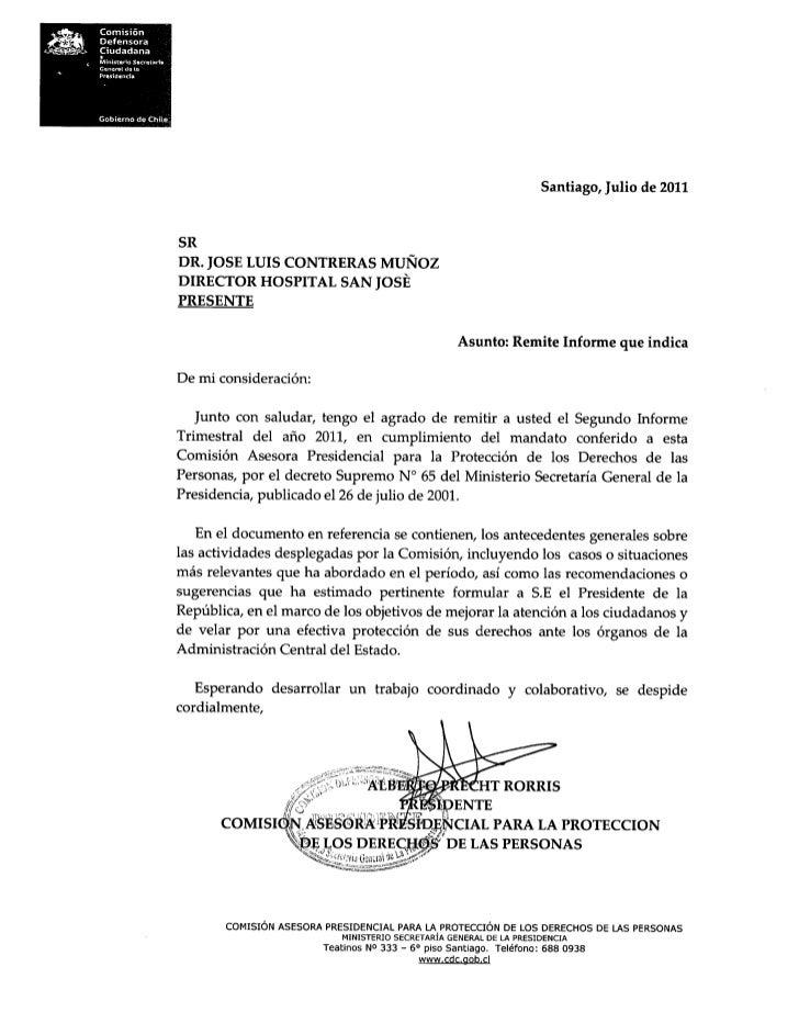 Carta presidente caig
