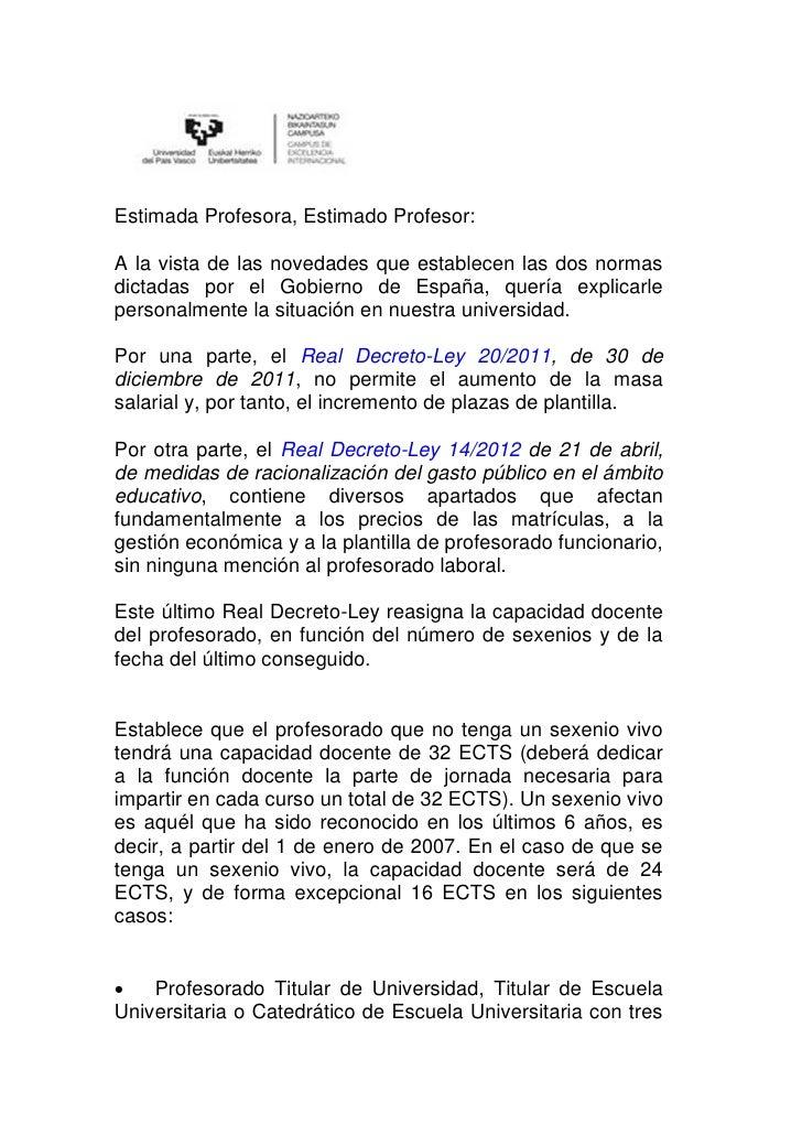 Carta rector universidad pais vasco real decreto for Universidad cocina pais vasco