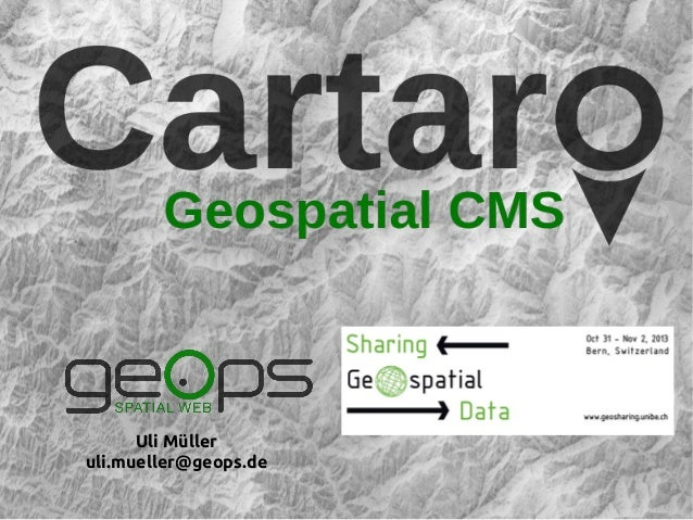 Cartaro Workshop at the Geosharing Conferenc in Bern