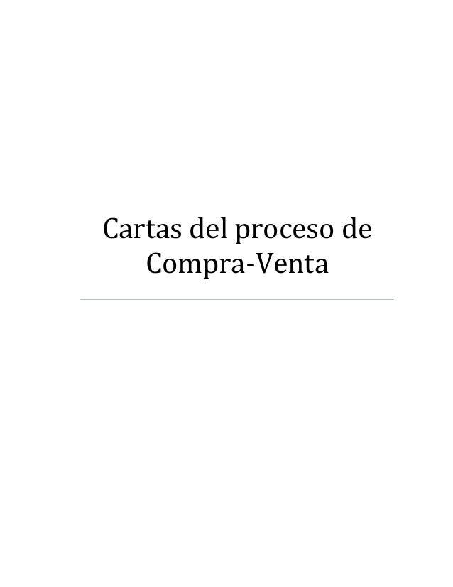 Cartas del proceso de Compra-Venta