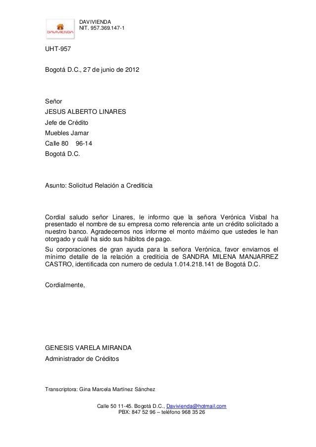 Cartas externas 5 Bod solicitud de chequera