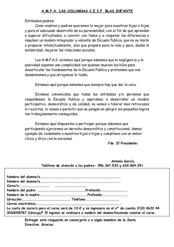 Carta  socios cuota 2011 2012