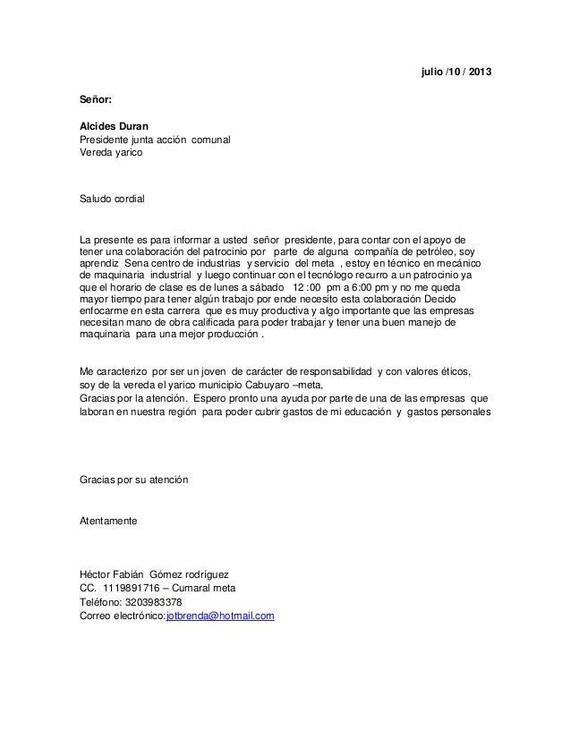 Modelo De Carta Para Solicitar Empleo