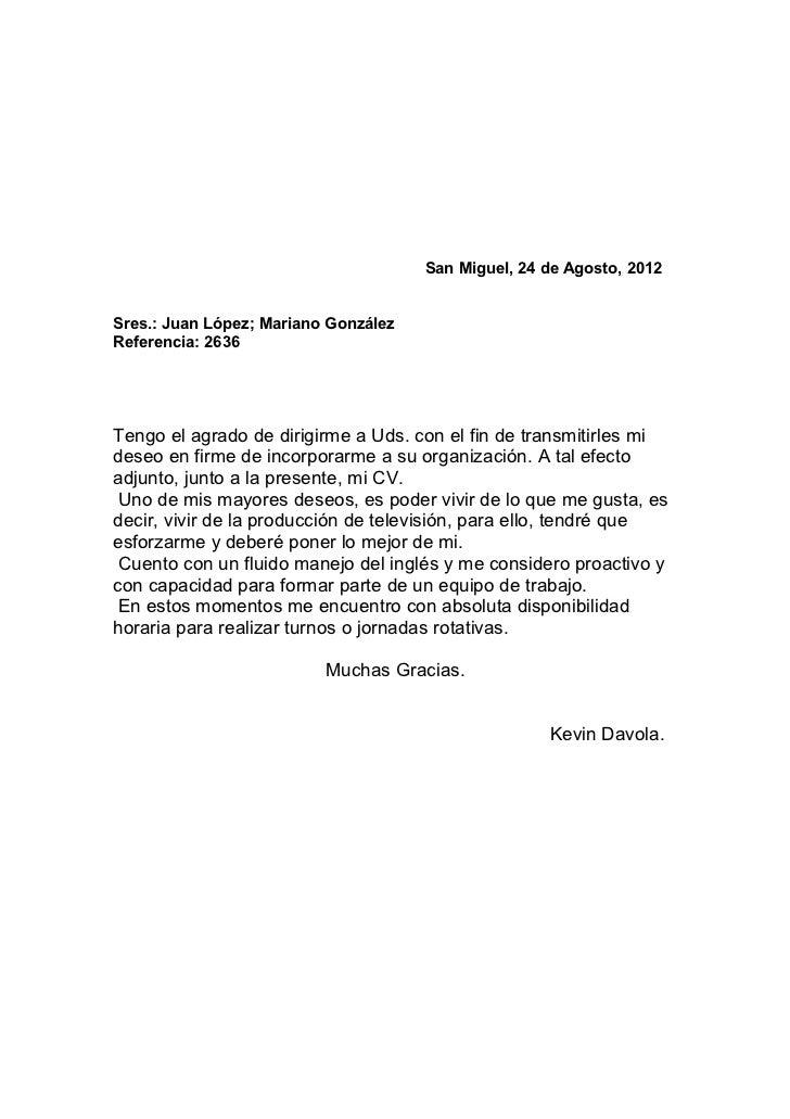 carta presentacion curriculum como hacer una buena carta