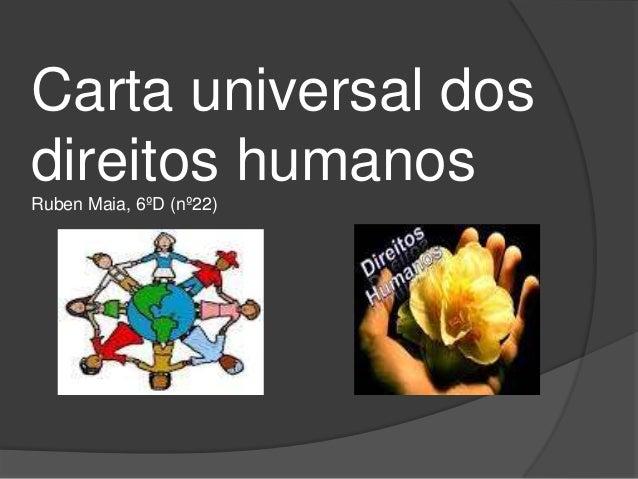 Carta Universal dos Direitos Humanos