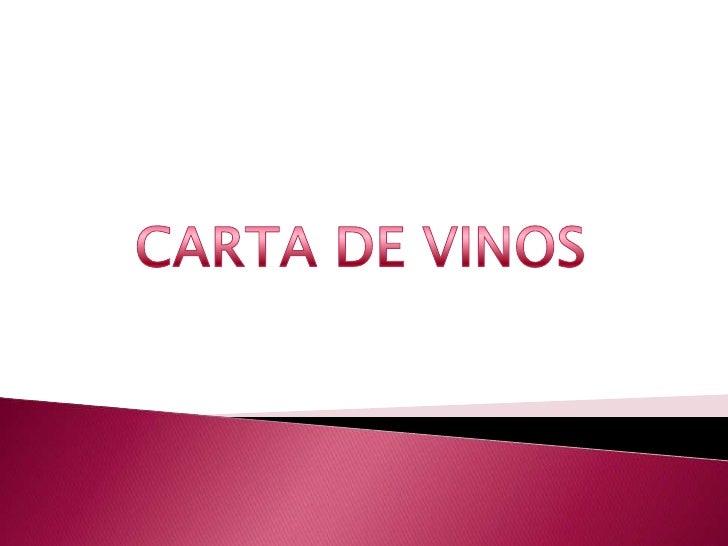 CARTA DE VINOS<br />