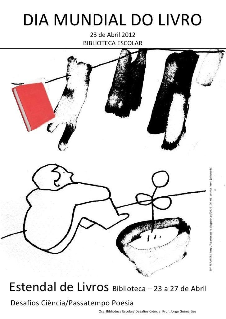 Cartaz Dia Mundial do Livro
