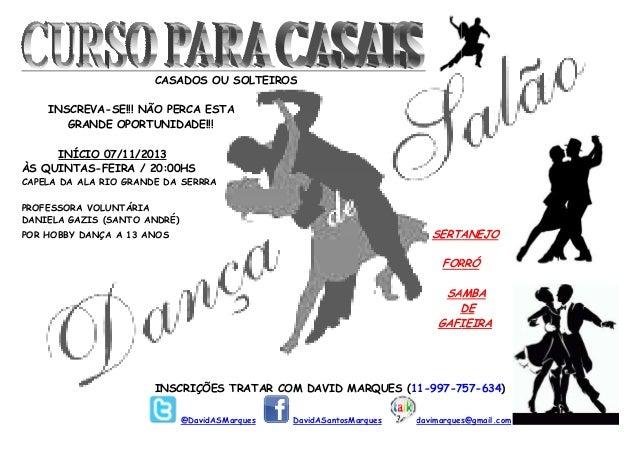 Cartaz - Curso de Dança de Salão