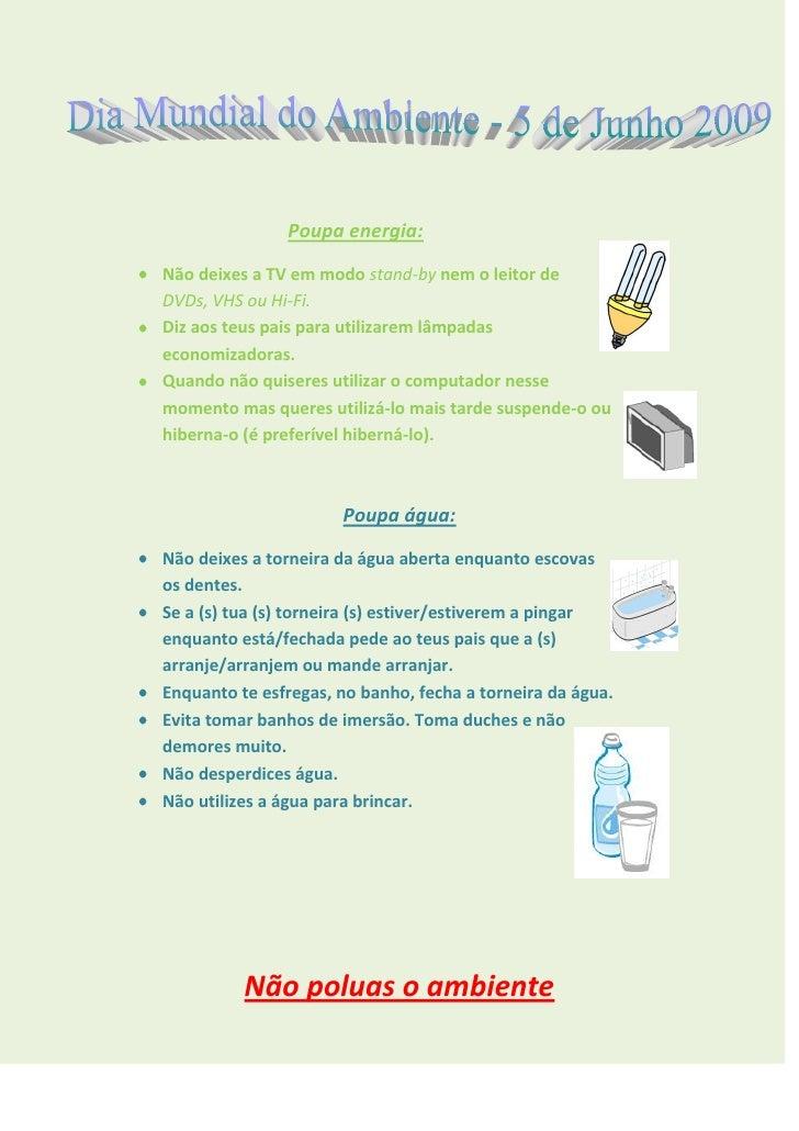 Cartaz Dia Mundial Do Ambiente