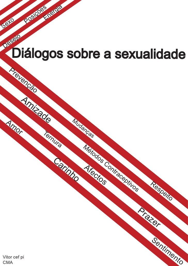 """Cartaz """"Diálogos sobre a sexualidade"""""""