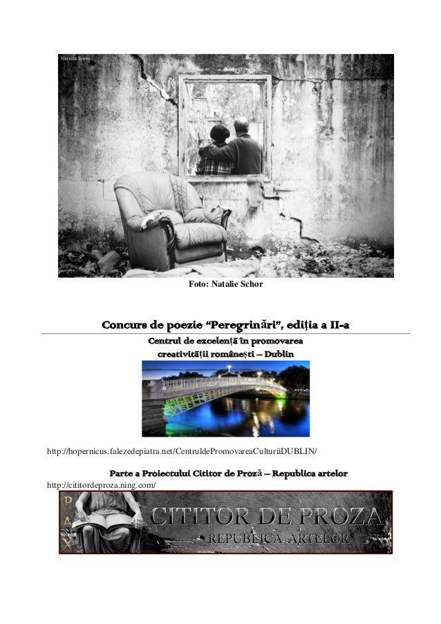 Cartea Concursului de Poezie ''Peregrinări'' 2013