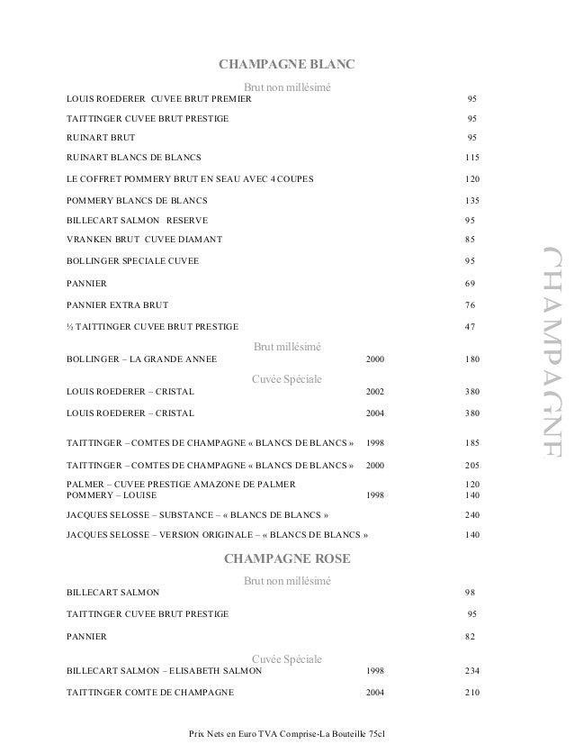 carte des vins restaurant le brittany spa. Black Bedroom Furniture Sets. Home Design Ideas