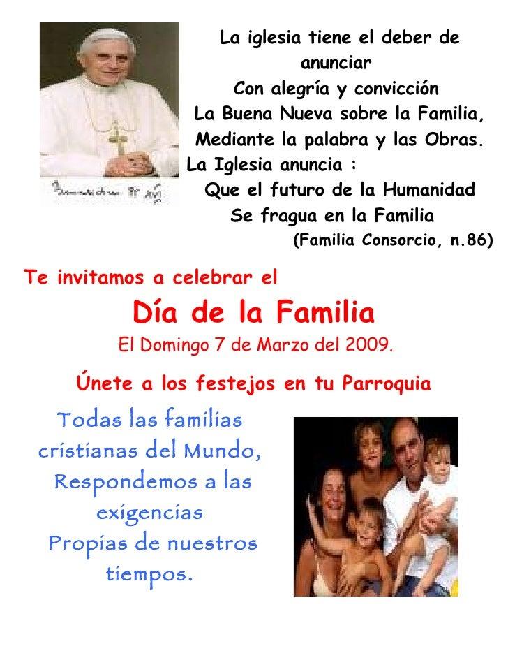 Cartel Dia De La Familia