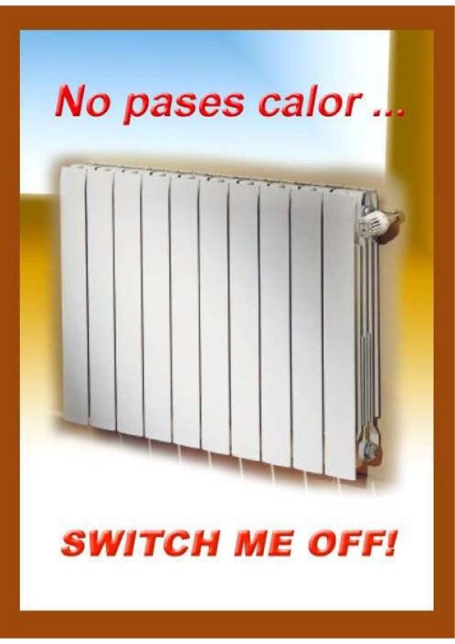 Cartel para ahorrar calefaccion