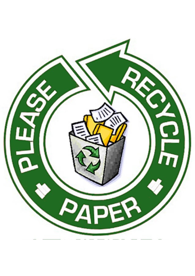 Cartel para reciclar papel
