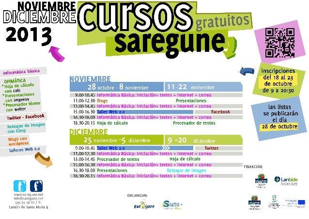 Cursos Saregune noviembre - diciembre 2013
