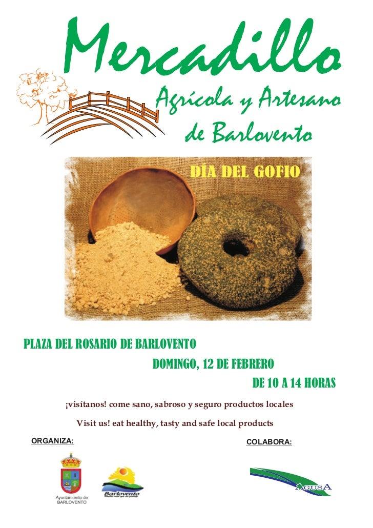 Mercadillo                 Agrícola y Artesano                                     de Barlovento                          ...