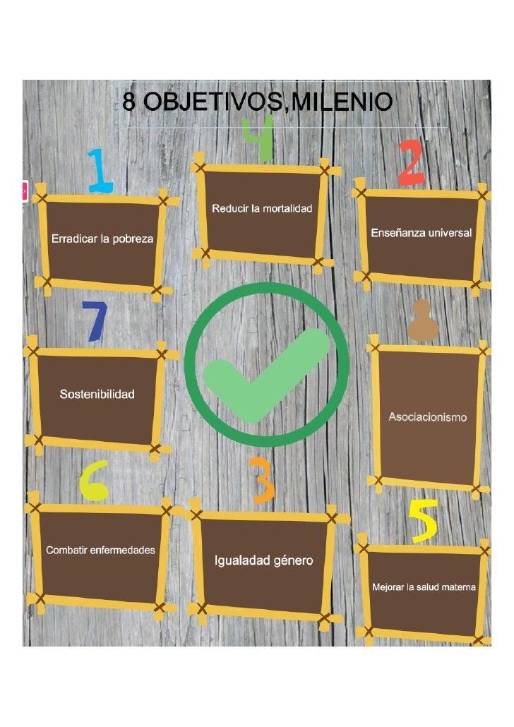 Cartel 8 Objetivos Del Milenio
