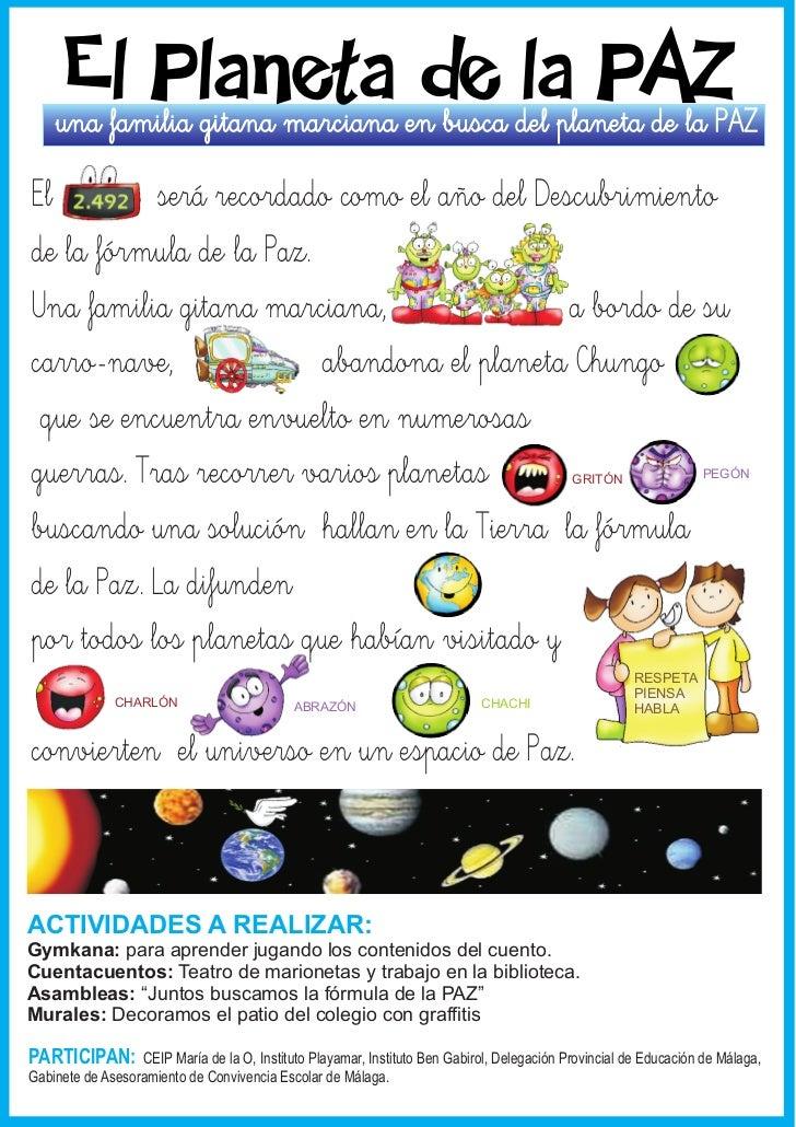 El Planeta de la PAZ    una familia gitana marciana en busca del planeta de la PAZEl         será recordado como el año de...