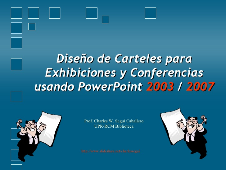 Cartel con Power Point 2003 2007