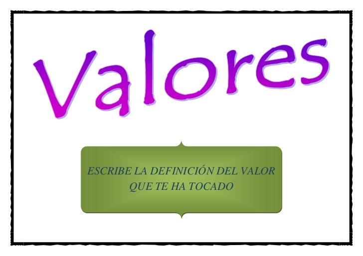 Cartel de los valores