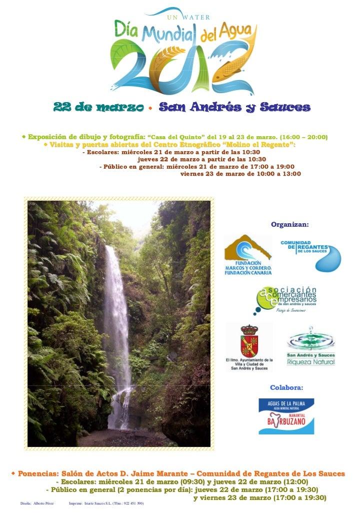Cartel dia mundial del agua