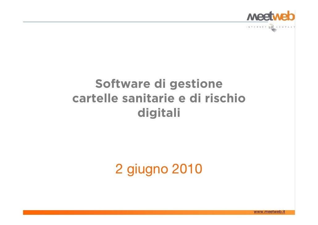 Web application | Cartelle cliniche digitali