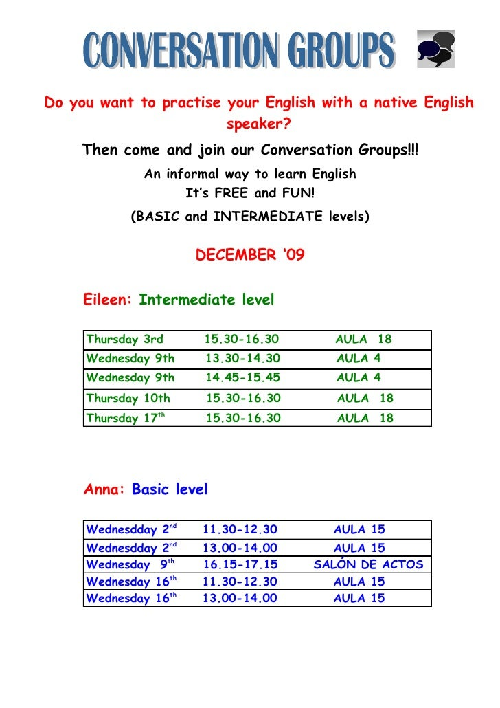 Do you want to practise your English with a native English                         speaker?      Then come and join our Co...