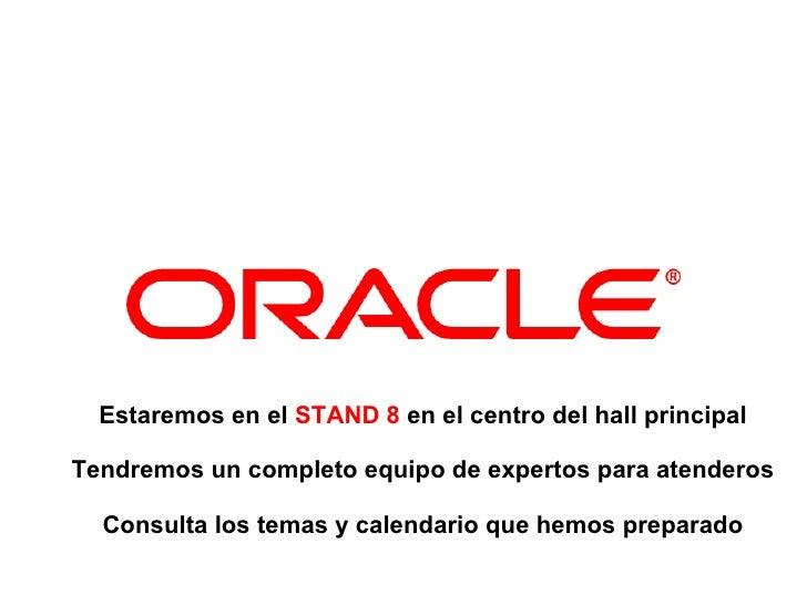 Contenidos stand Oracle en Inforsalud2011