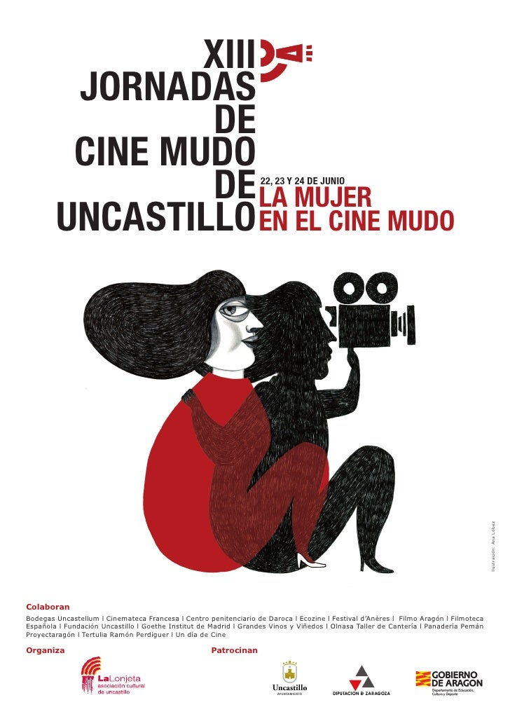 Cartel XIII Jornadas Cine Mudo Uncastillo