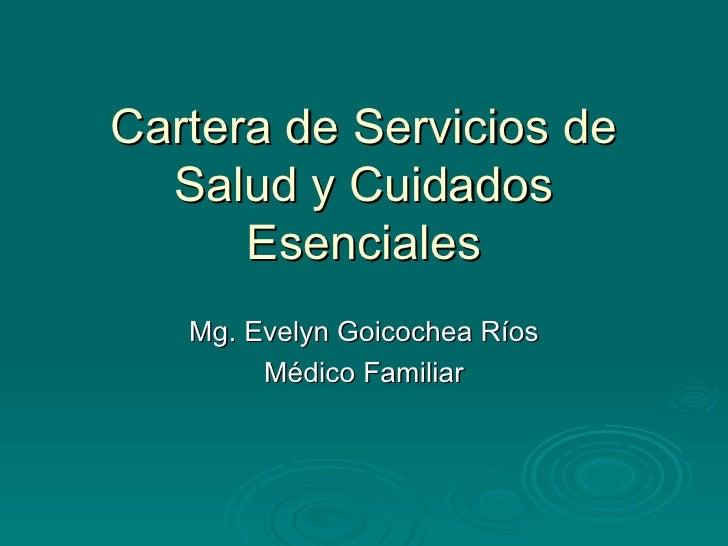 Cartera de servicios salud perú