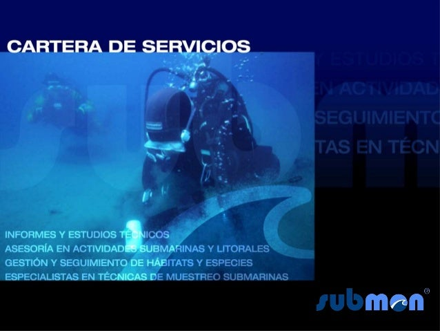 Cartera de servicios submon 2012