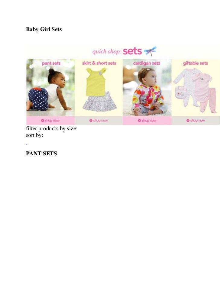 Carters baby girl sets 301 a 328